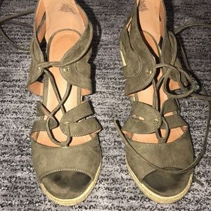 H&M shade lace up wedges